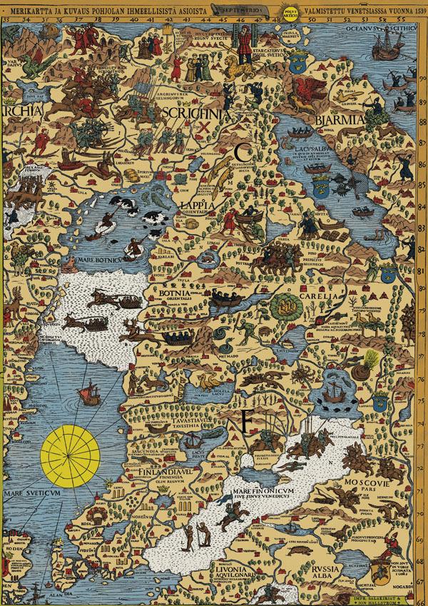 Carta Marina Ensimmainen Yksityiskohtainen Suomen Kartta